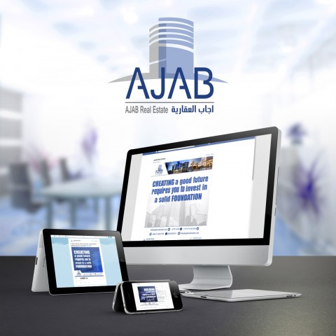 Social media post design for AJAB Real Estate