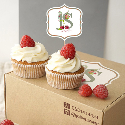 Box & Sticker design for Jolly's Sweet. Home business bakery – khobar