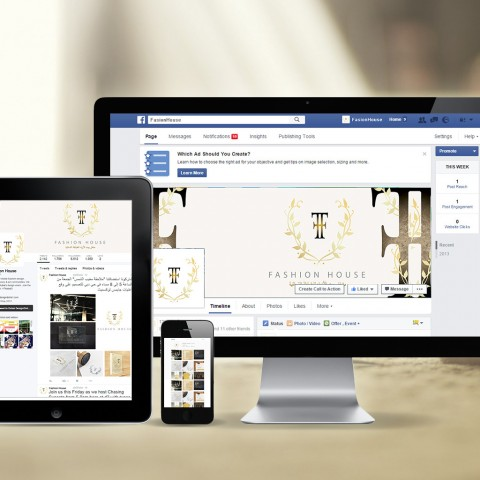 Successfully  set , design & Manage social media pages for Fashion house