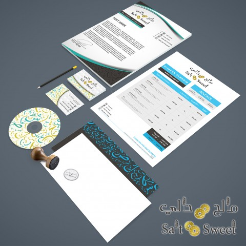 Successfully finalized design stationary set as part of Salt & Sweet corporate identity