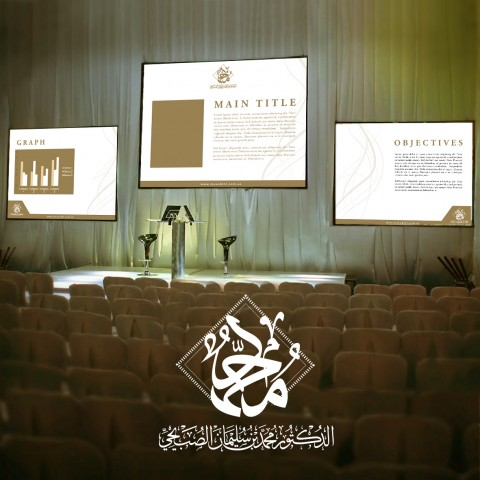 Powerpoint design as part of Corporate identity for Dr.Mohammed Al Subihi  . Dr.Al Subihi is academic & Certified trainer
